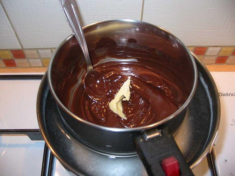 crema al cioccolato in cottura
