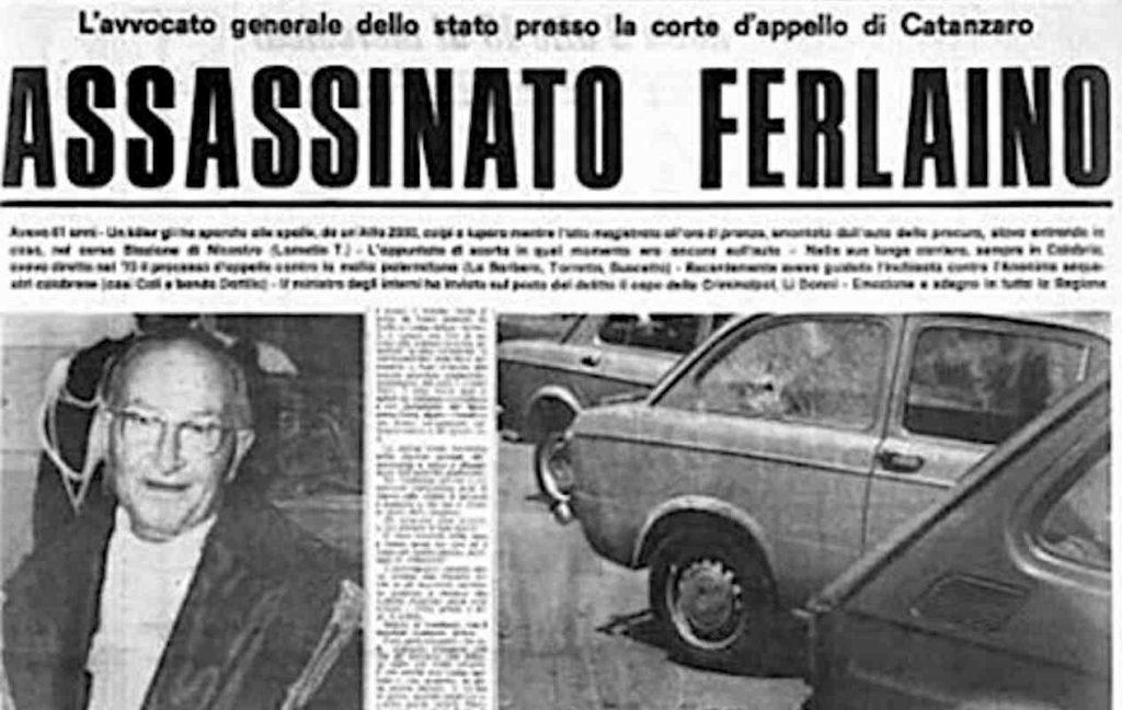 giudice ucciso dalla criminalità organizzata - judge Francesco Ferlaino killed by organized crime