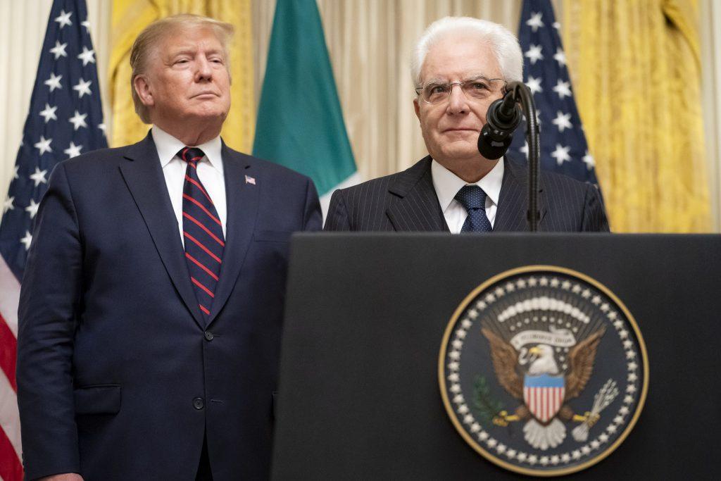 il Presidente Trump incontra Sergio Mattarella