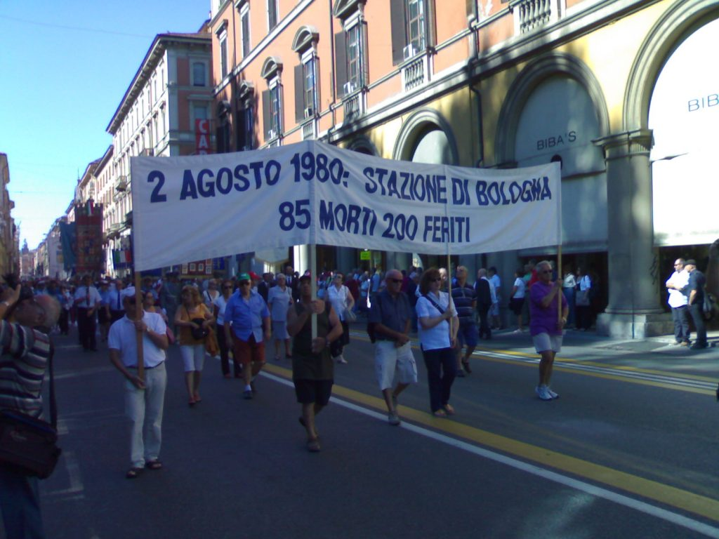Bologna massacre - procession of demonstrators