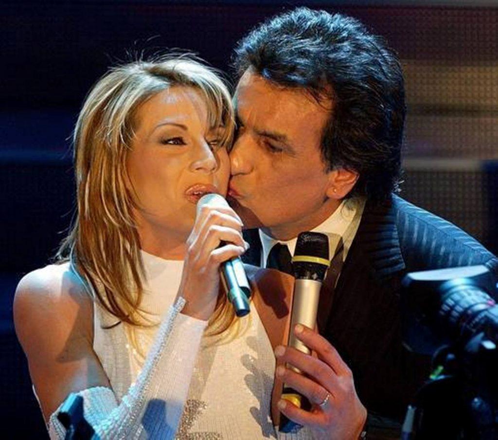 Toto Cutugno a Sanremo con Annalisa Minetti - at Sanremo with Annalisa minetti