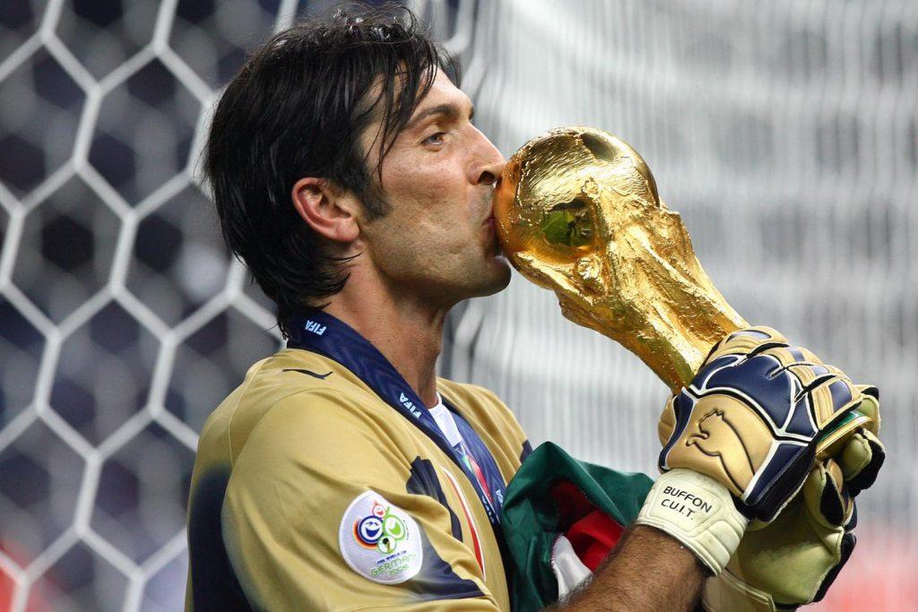 Goalkeeper Gianluigi Buffon at the world cup