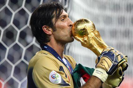Il portiere Gianluigi Buffon ai mondiali