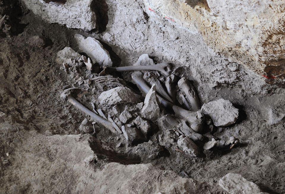 I resti umani rinvenuti in una grotta del Parco nazionale del Pollino