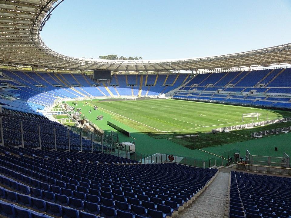 Dpcm - serie A - veduta dello stadio olimpico