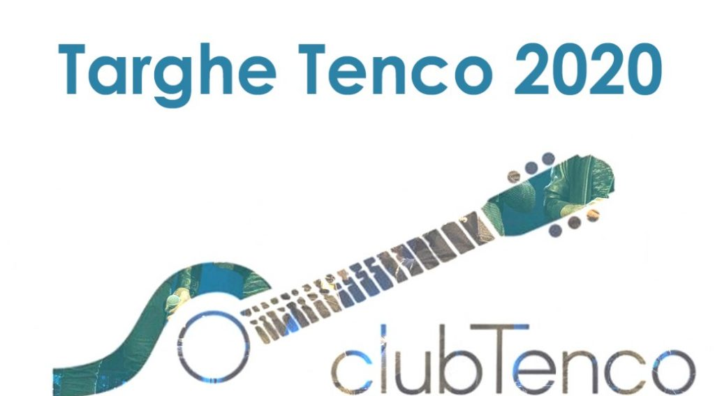premio tenco - targa da consegnare a novembre plate to be delivered in November