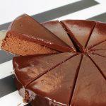 torta al cioccolato a fette