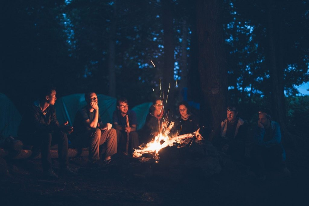 San Lorenzo - friends around a bonfire