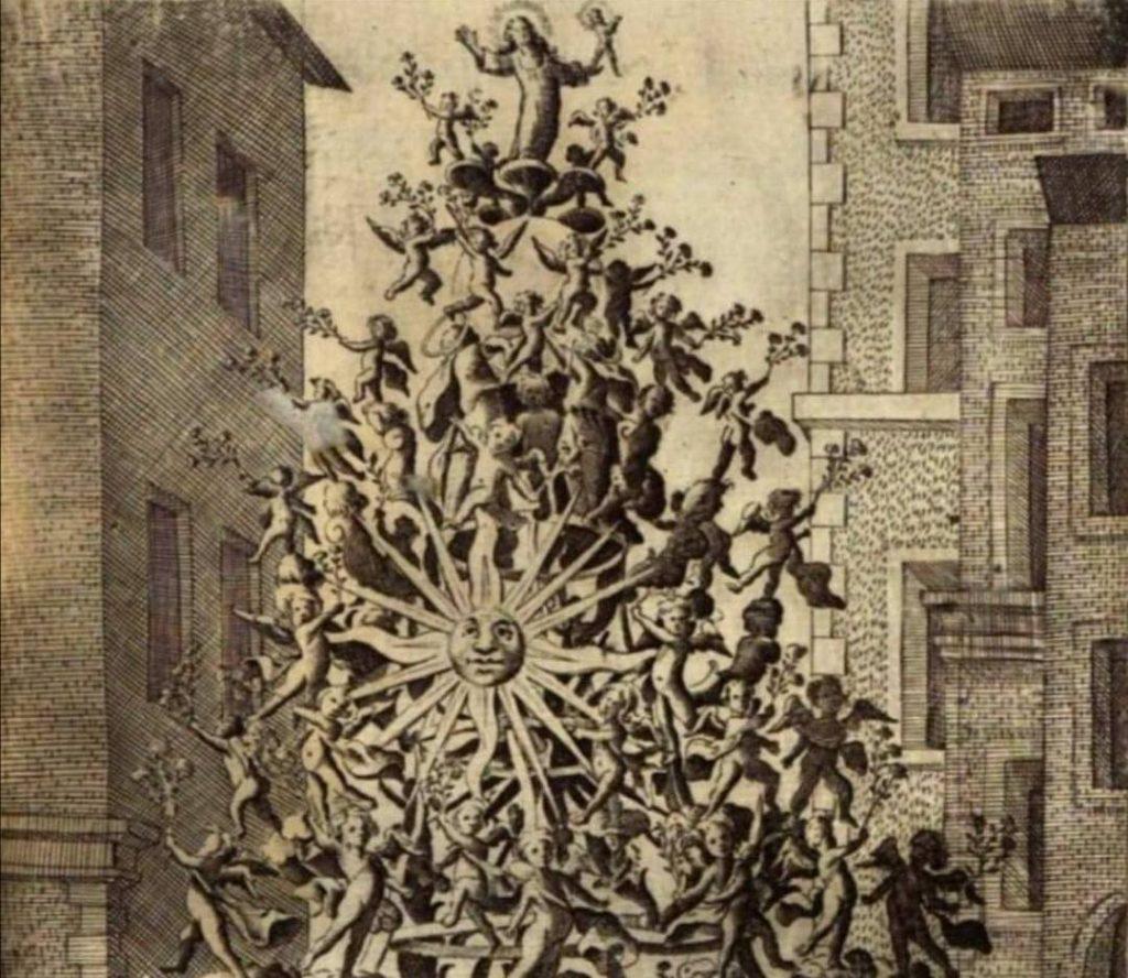 Ferragosto, antica raffigurazione della Vara di Messina / mid-august Ancient depiction of the Vara di Messina.