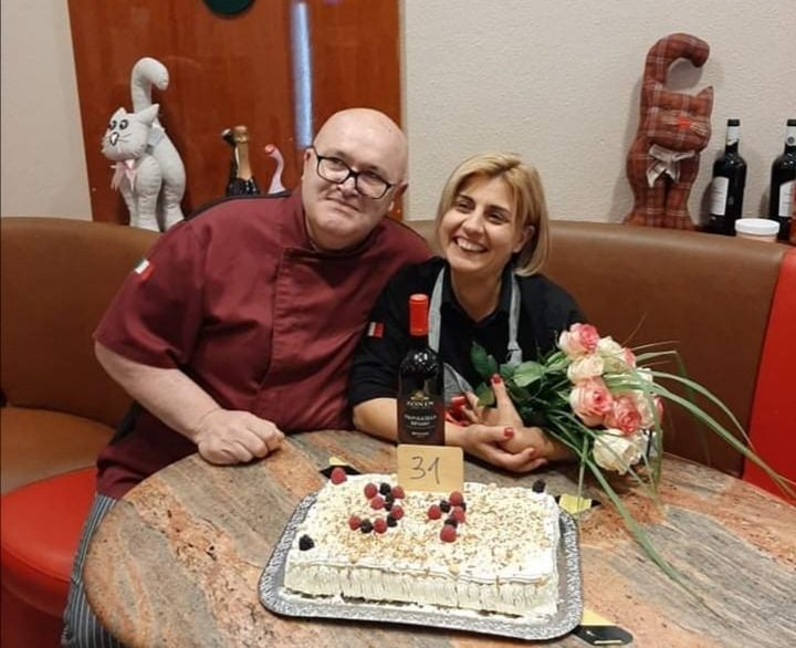 Moreno Pascon e sua moglie Rosanna