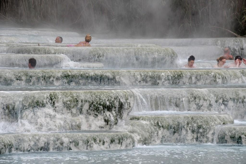 Particolare delle cascate del Mulino a Saturnia