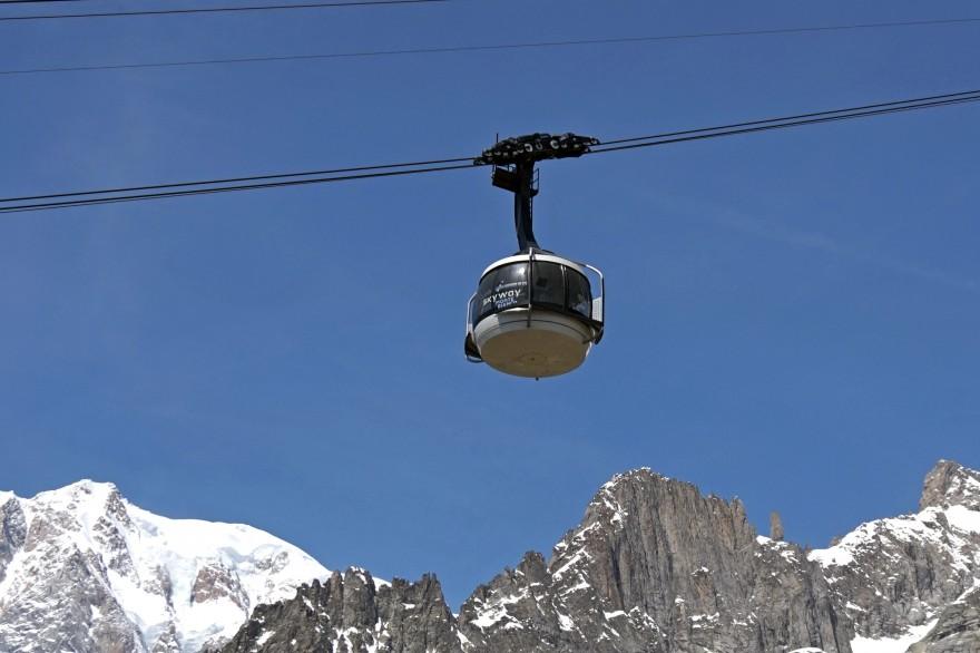 Skyway, la moderna funivia del Monte Bianco