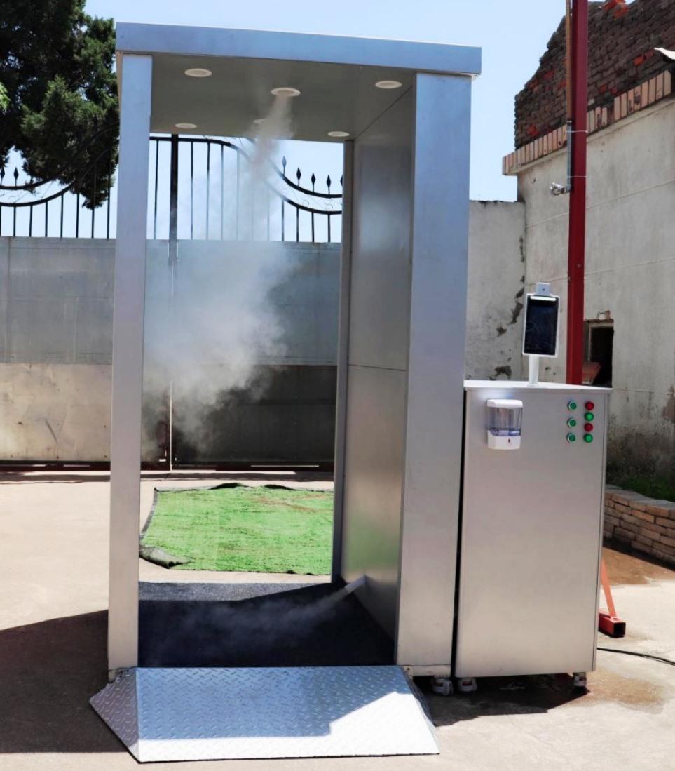 Cabine per la sanifcazione in funzione