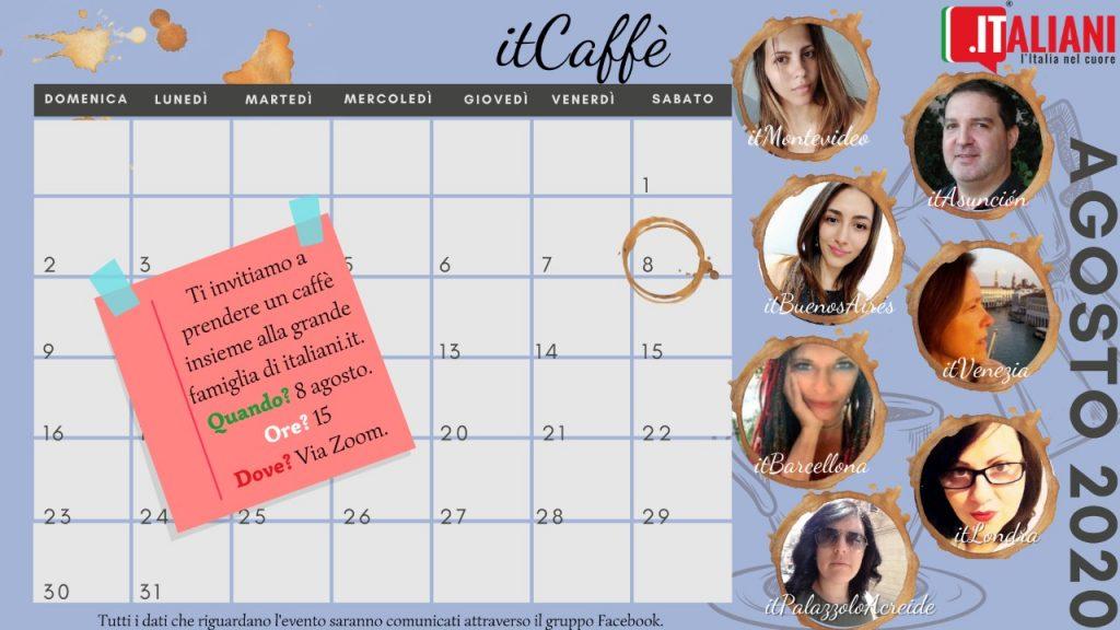 it caffe - flyer con i partecipanti