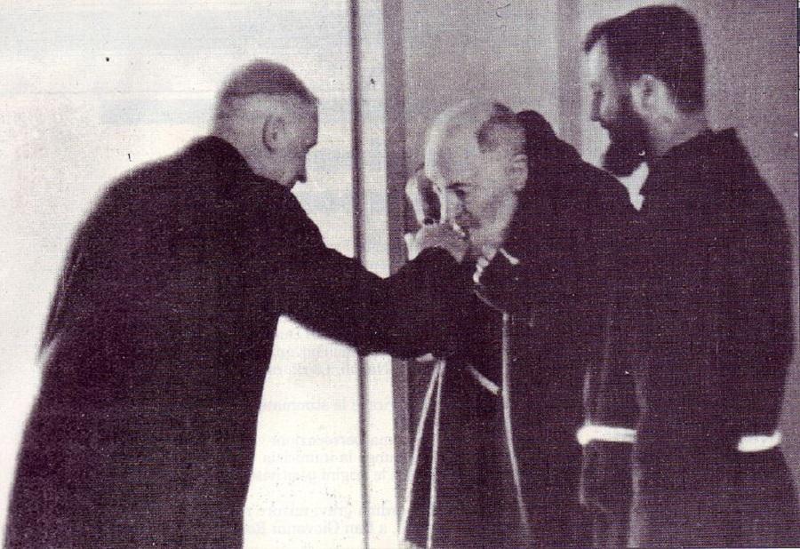 San Pio in un'immagine del 1968