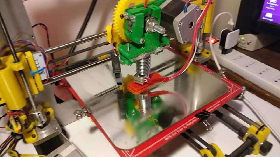 Un modello di stampante 3 D