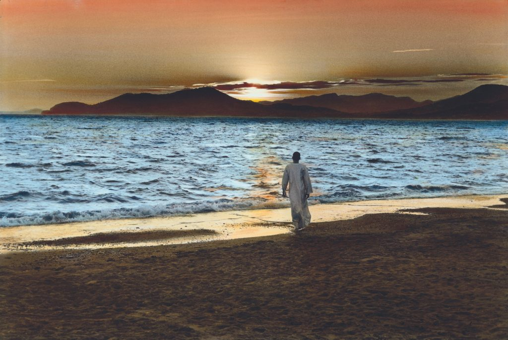 Henri Cartier-Bresson - uomo sulla spiaggia