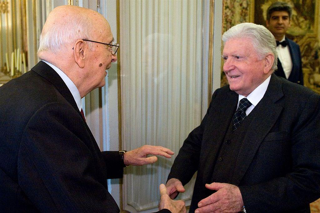 Sergio Zavoli con Giorgio Napolitano