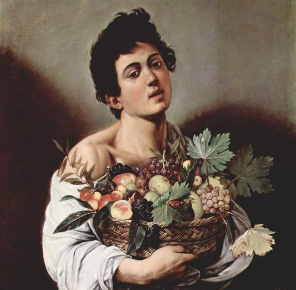 """Caravaggio, """"Fanciullo con canestro di frutta"""""""