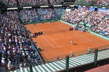Il pubblico numeroso nelle scorse edizioni degli internazionali di tennis