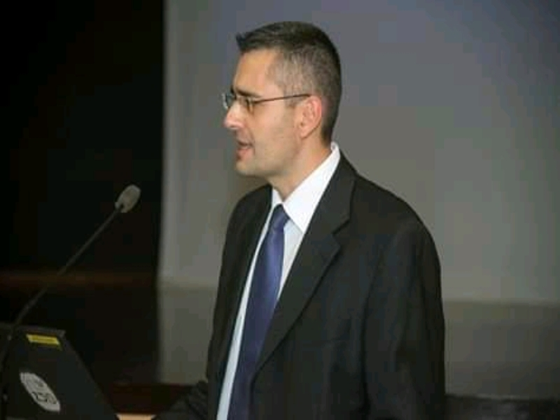 Konstantinos Kyrimis a un convegno con tema Atene e Micene