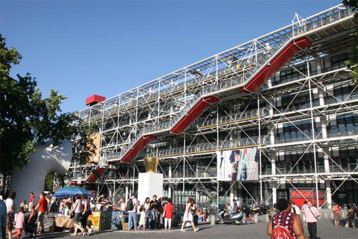 Il centro Pompidou, a Parigi
