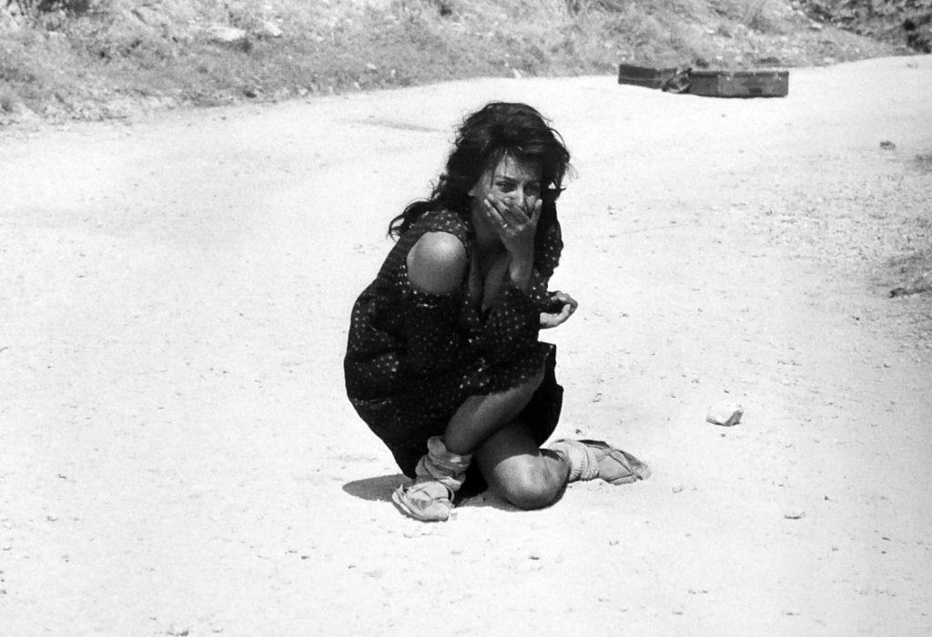 L'attrice in una scena del film La Ciociara