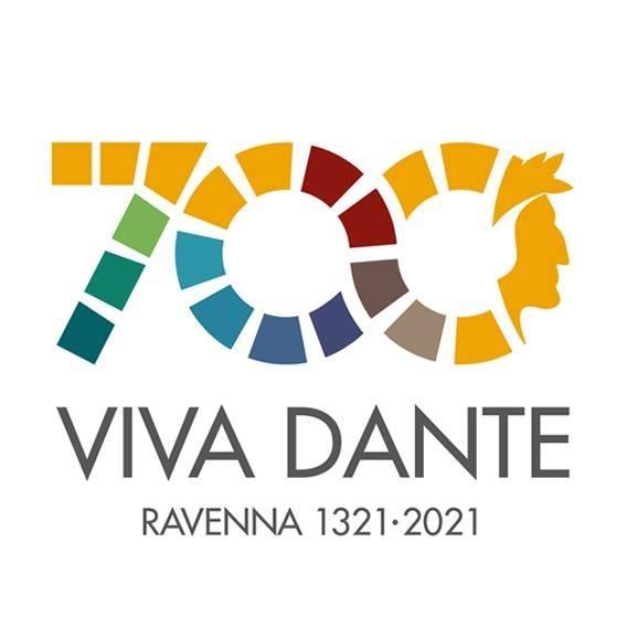 volto di Dante Alighieri - logo 700 anni viva dante
