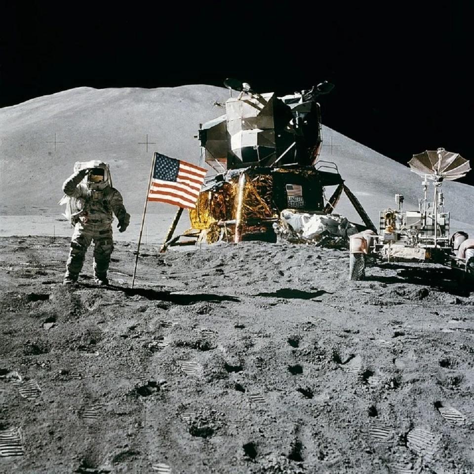 L'uomo sulla Luna nella missione Apollo 15
