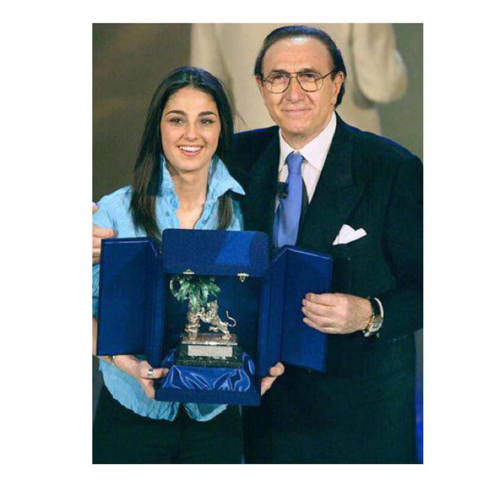 Anna Tatangelo con Pippo Baudo