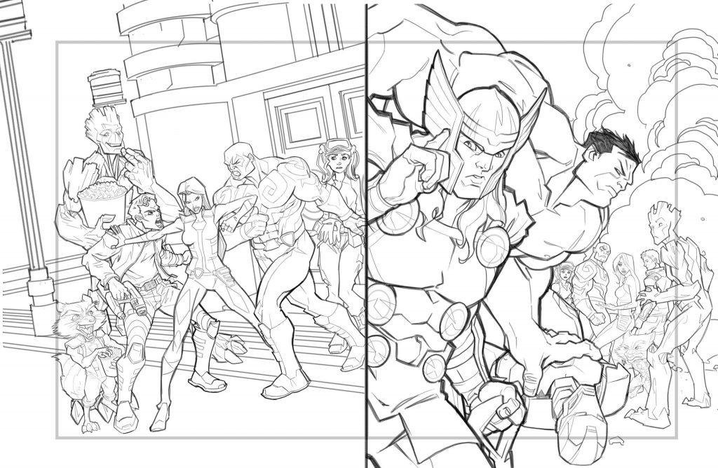 Il fumettista palermitano realizza personaggi della Marvel