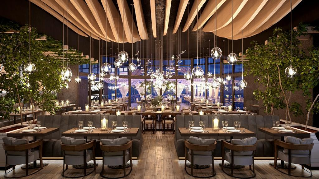 Un ristorante realizzato dall'architetto