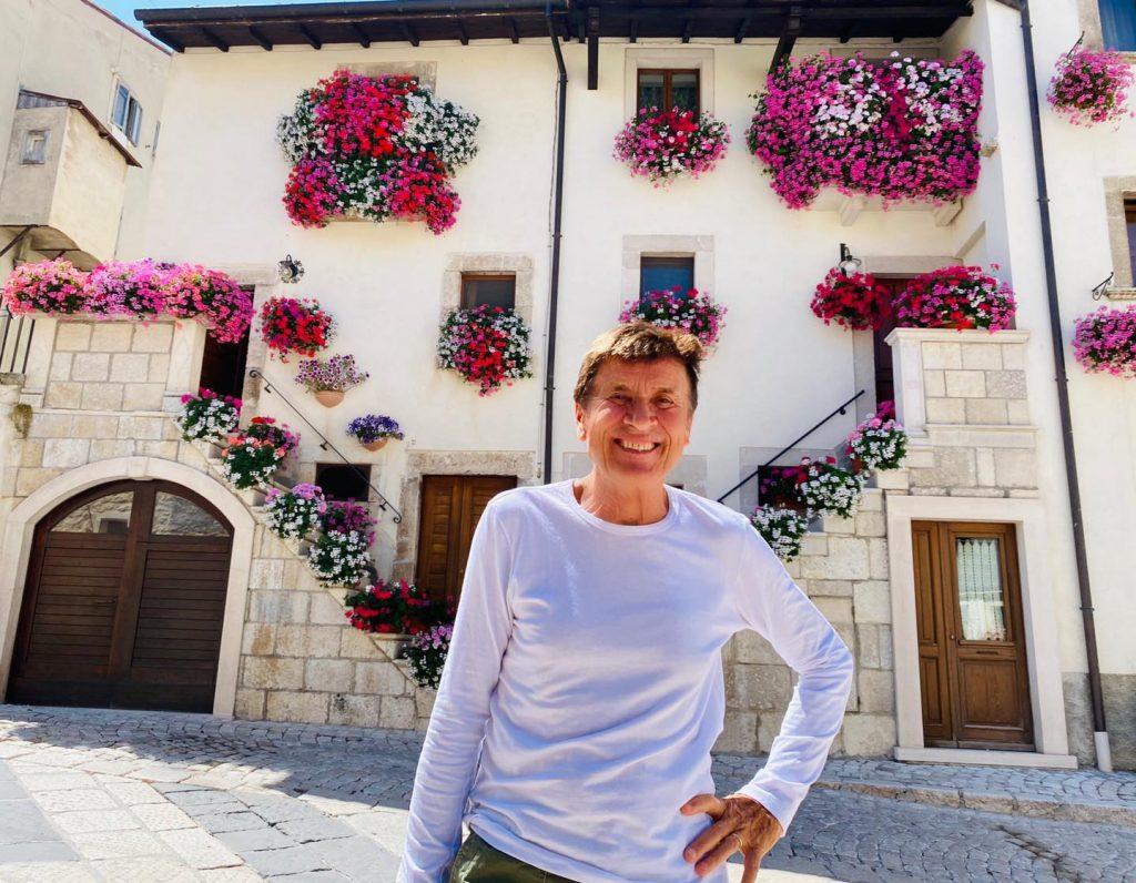 Il cantante Gianni Morandi