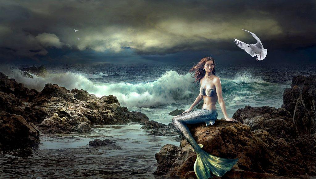 Sirena sugli scogli