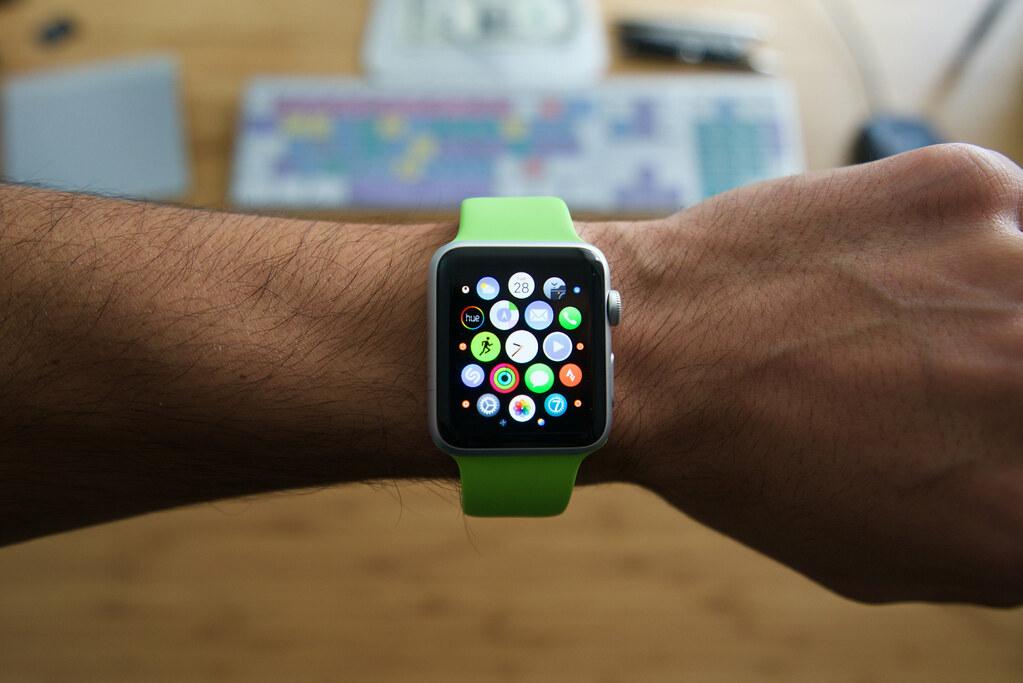 uno smartwatch apple utilizzato per la ricerca