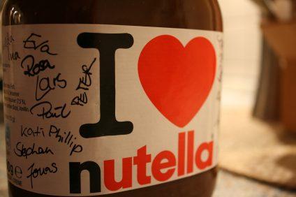 I love Nutella un vasetto di una edizione limitata