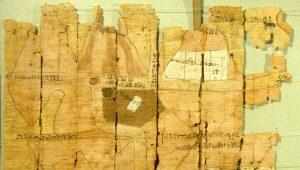 Museo Egizio di Torino - Mappa del papiro 1150 a.C.Mappa del papiro di Torino 1150 a.C.