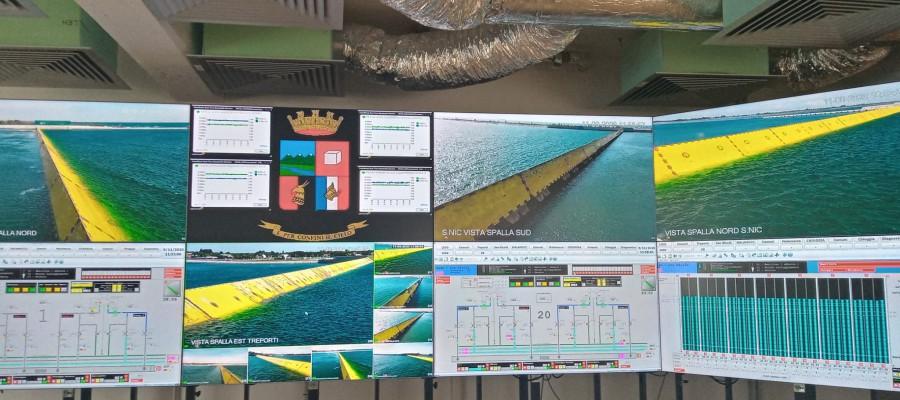 Mose - schermi della control room