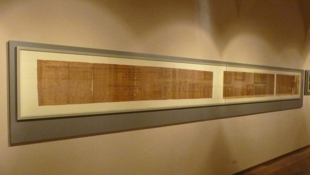 Museo Egizio di Torino - papiro giuridico, regno di Ramses III