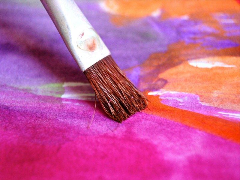 Un foglio dipinto ad acquerelli. Pittura in psicoanalisi