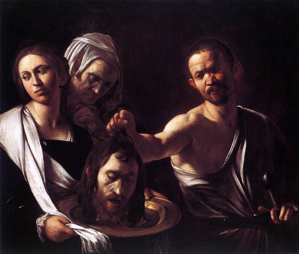 """""""L'Ombra di Caravaggio"""", Salomè con la testa del battista"""