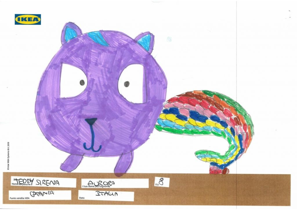 ikea - Un altro disegno, una sirena con la testa di un gatto