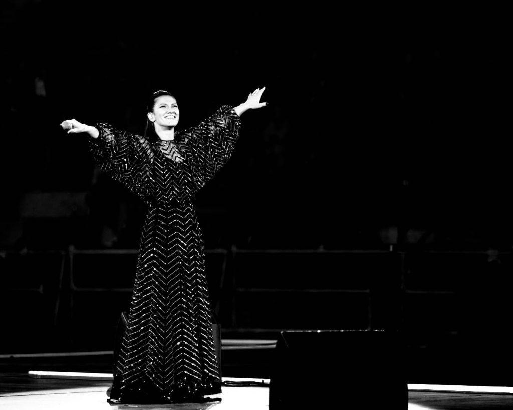 Elisa durante un ultimo concerto