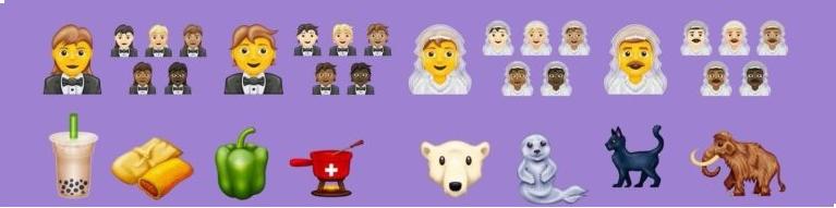 Nuove emoji Apple - matrimoni  animali