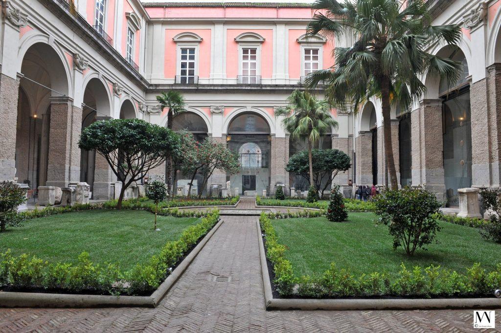 I giardini del museo Mann di Napoli
