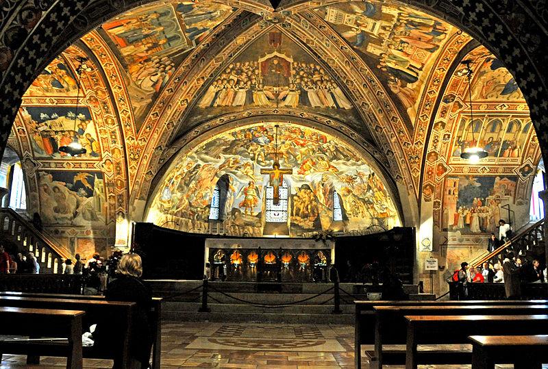il transetto della basilica dove il papa presenta fratelli tutti