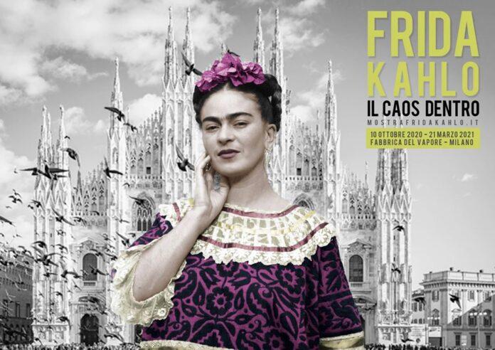 manifesto della mostra di frida kahlo a milano
