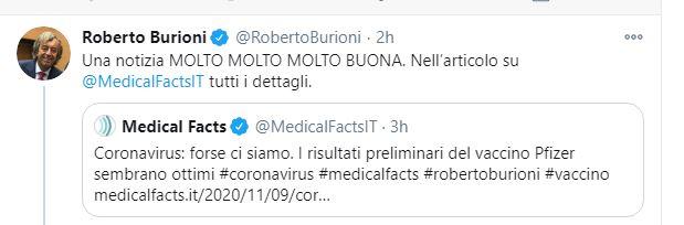 pfizer - tweet burioni