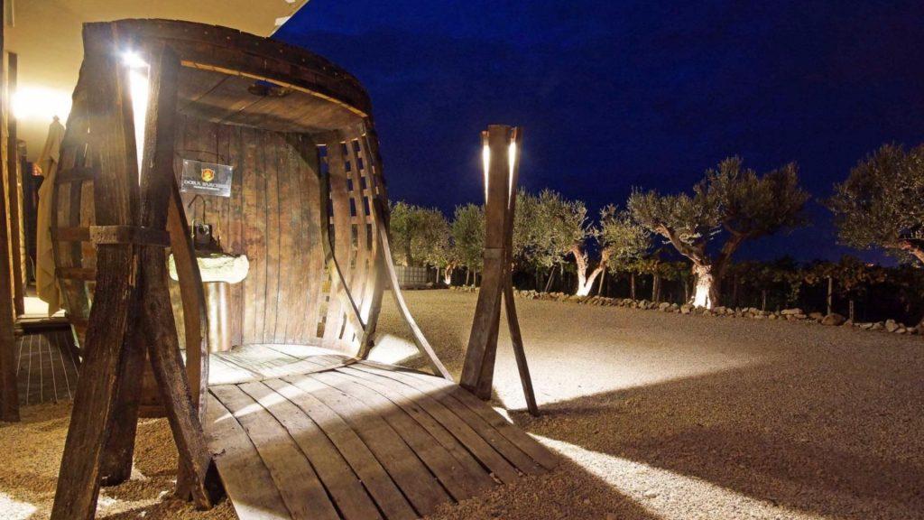 ingresso alla fontana del vino