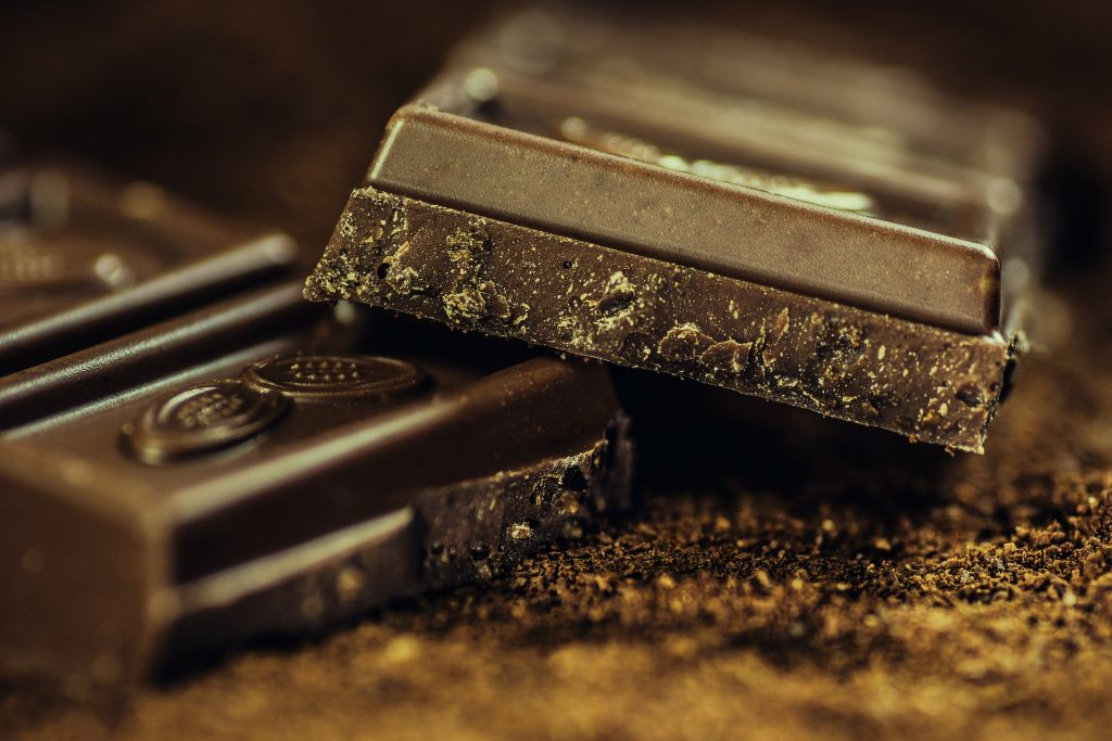 Cioccolato al latte o fondente - barretta di cioccolata